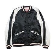 HOUSTON:Panda Embroidered Souvenir Jacket 無地(BLACK)/ スーベニアジャケット,スカジャン